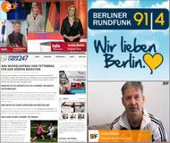 Personal Trainer im ZDF,  berliner Rundfunk