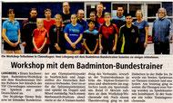 Bericht in der Kreiszeitung vom 29.12.2017
