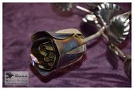 Raven Metall Design e. U. - Schlosserei und Maschinenhandel - Edelstahlblumen - Edelstahlrose verfärbt