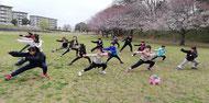 湖北台中央公園で練習