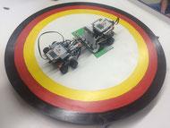 Lego-Sumo-Ringen in der Projektwoche Ende des Schuljahres 2015/2016