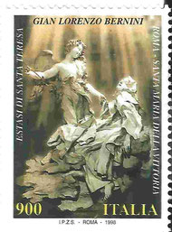 Bernini-Briefmarke: Ekstase Theresa von Avilas