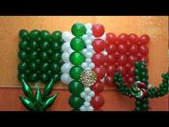 bandera mexicana globos