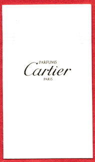CARTIER - CARTE MULTI-FRAGRANCES : RECTO