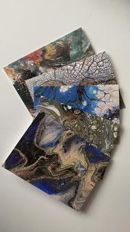 Künstler Grußkarten mit Umschlag - Set 3