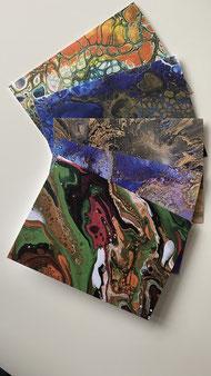 Künstler Grußkarten mit Umschlag - Set 5