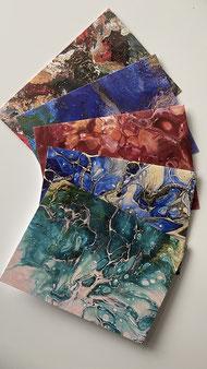Künstler Grußkarten mit Umschlag - Set 4