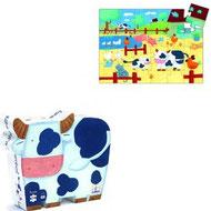 Silhouette Les vaches à la ferme