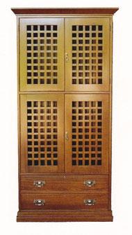 Silky oak cupboard