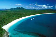 Weisser Sandstrand auf Whitsunday Islands