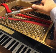 実際に取り寄せたピアノをご覧頂きます