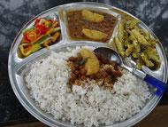 Un repas à Annadana