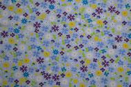 Stretchjersey Springtime Florets hellblau / Design von not4angels  alle Rechte vorbehalten