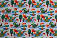 Stretchjersey Janeas Little Drago weiß / Design von Janeas World  alle Rechte vorbehalten