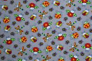 Stretchjersey Kribbelkrabbel hellgrau / Design von Janeas World  alle Rechte vorbehalten