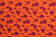 Stretchjersey Janeas Dinoworld orange / Design von Janeas World  alle Rechte vorbehalten