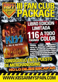 KISS ARMY SPAIN - Fan package!!