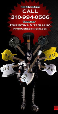 KISS GENE SIMMONS AXE BASS