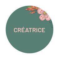 Cette image représente le logo Créapop Events avec le mot Créatrice inscrit dessus, créatrice de faire-part sur toulouse et autre décoration