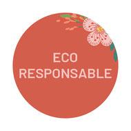 Cette image représente le logo de Créapop Events avec la valeur Eco-responsable pour les mariages sur Toulouse ou en Occintanie et des créations de faire-part et carterie mariage et naissance éco-responsable
