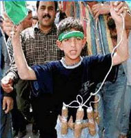 enfant kamikaze porteur d'une bombe