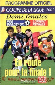 Programme LNF  PSG-Bordeaux  2001-02