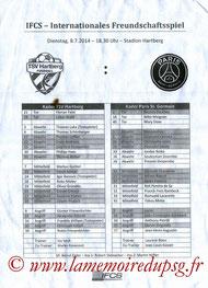 Programme  Hartberg-PSG  2014-15