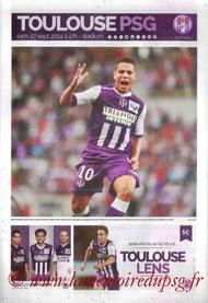 Programme  Toulouse-PSG  2014-15