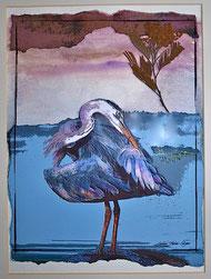 karibudesign Heron am Wasser