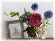 ピアノ教室通信&お花