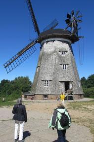 Samstag: In Benz auf der Insel Usedom steht diese alte Holländerwindmühle.