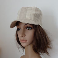 casquette de pluie droite beige