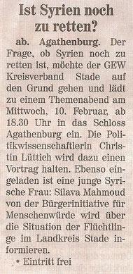 Neue Buxtehude Wochenblatt, 06.02.2016