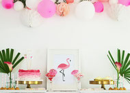 Bild: DIY Party Deko zum selber machen vom DIY Deko Blog Partystories - tropical Flamingo Party als Sommerparty feiern