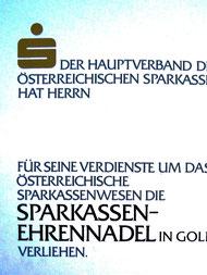 Urkunde für Sparkassen-Angestellte