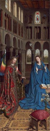 1434-1436年 油彩 73×37cm     ファン・アイク作