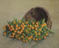 橘    油彩8号