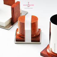 Set scrivania - accessori scrivania - radica - lavorazioni artigianali