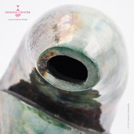 Vaso Scultura ceramica raku - pezzo unico - Made in Italy