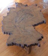Baum-Deutschland-Holzscheibe-Tisch-Kunstwerk-Skulptur von künstlerstein.de Mathias Rüffert