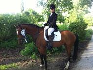 Sophie mit Libi - Dressurreiterwettbewerb - 7,0 - 2.Platz :-)