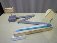 レーザー光を利用した距離測定器