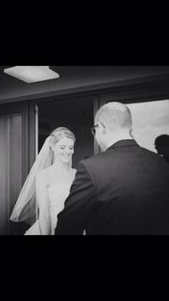 Gestylte Braut am Hochzeitstag