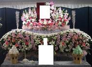 越谷市 格安家族葬 生花祭壇