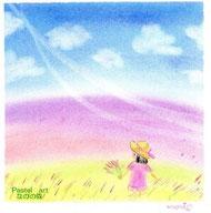 ラベンダー畑にて