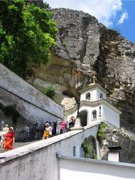 Свято Успенский монастырь в скале
