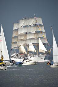 Windjammerparade auf der Kieler Woche