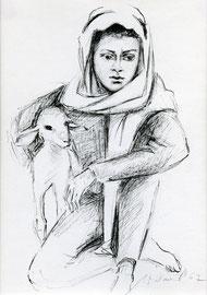 Nr. 1106 Hirtenjunge mit Lamm