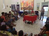 Abschied des Jugendlichen Leandro im Jugendhaus