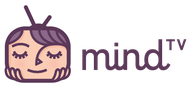 Das Bild zeigt das Logo von mindTV eine Visualisierungsmethode zum Bearbeiten negative Gefühle .